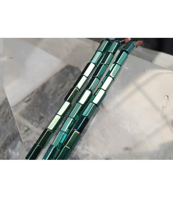 Hilo prisma hematite color verde 5x3mm