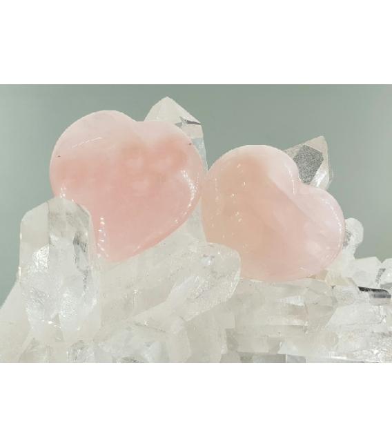 Corazon cuarzo rosa (3ud)