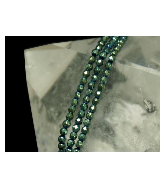 Hilo bola tallada hematite color verde 4mm