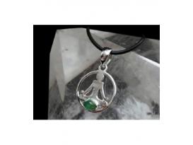 Colgante simbolo buda esmeralda plata