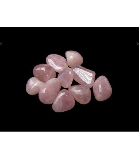 Rodado cuarzo rosa pequeño (250gr)