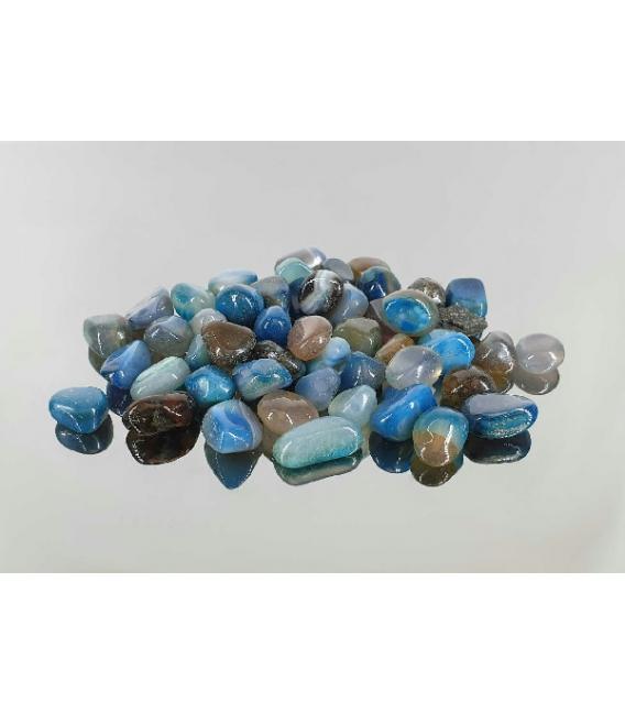 Rodado agata azul turquesa mini (10kg)