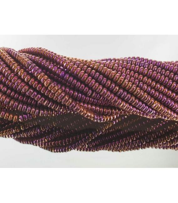 Hilo lenteja hematite color purpura 4mm