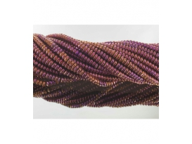 Hilo lenteja hematite color purpura 4mm