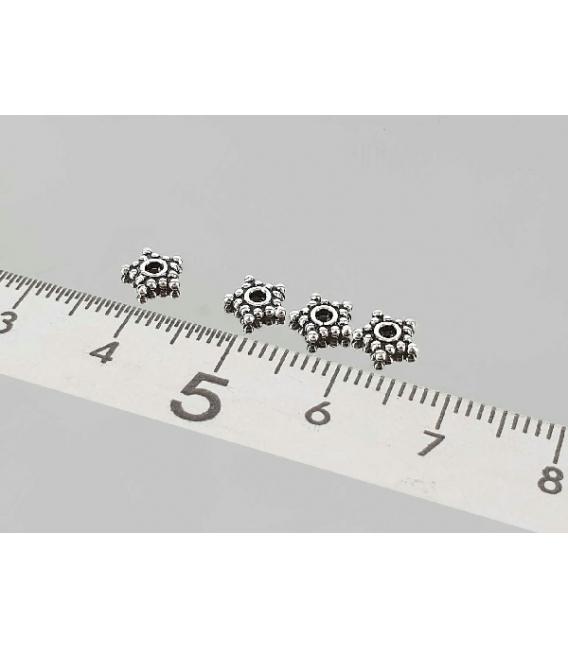 Fornitura plata estrella 6mm (50ud)