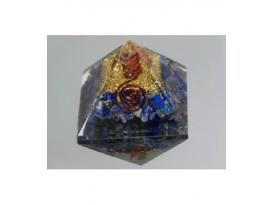 Piramide orgonite 9x9cm de lapislazuli