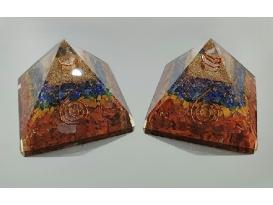 Piramide orgonite 9x9cm chacraS