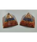 Piramide orgonite 9x9cm chacra