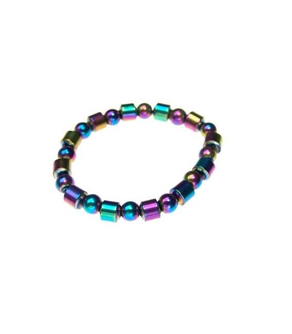 Pulsera hematite arco iris (10ud)