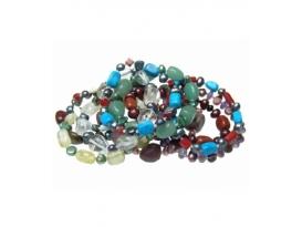 Pulseras perla minerales (5ud)