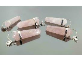 Colgante balancin cuarzo rosa (5ud)