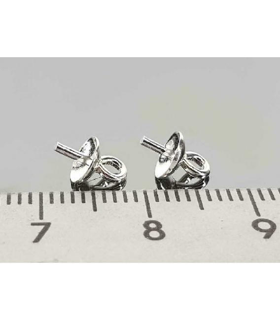 Fornitura plata garrota casquilla 8mm (20ud)