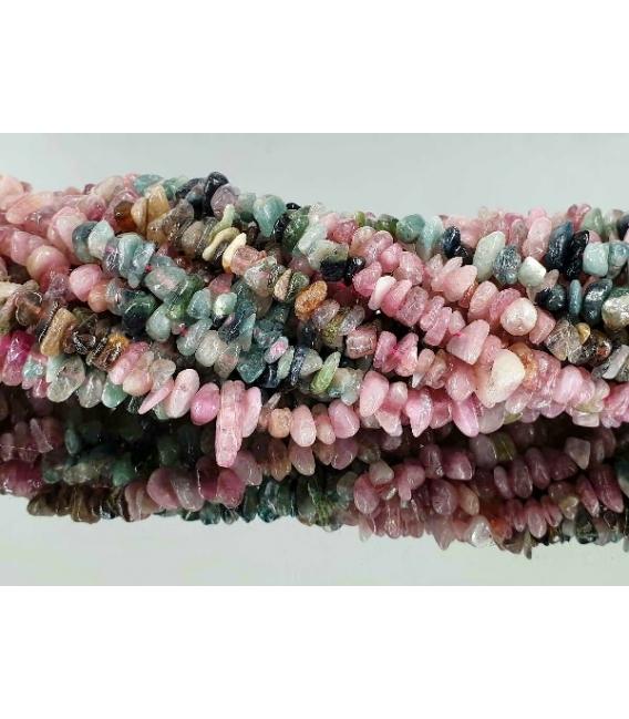 Hilo chip turmalina multicolor