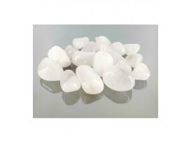 Rodado cuarzo nevado variado(1kg)