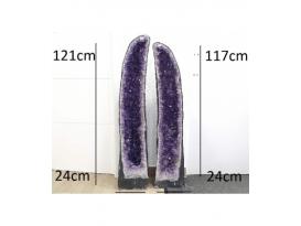 Pareja de geodas amatista (152kg)