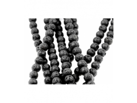 Hilo bola lava negra pulida 4mm