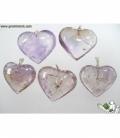 Colgante corazón ametrino (3ud)