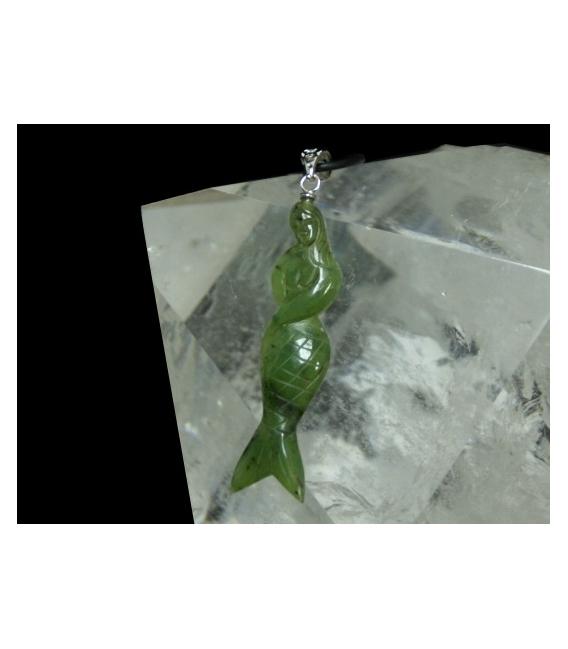 Colgante sirena jade canadiense