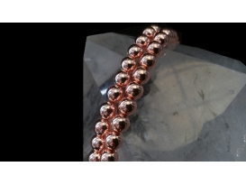 Hilo bola hematite color cobre 4mm