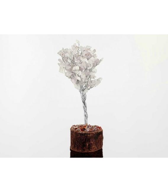 Arbol c. nevado grande base madera