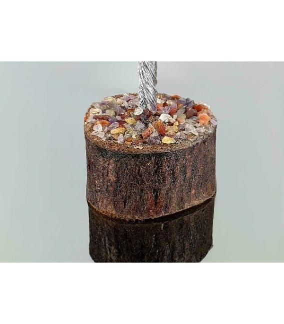Arbol chacras pequeños base madera