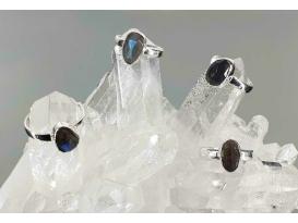 Anillo facetado espectrolita plata(1ud)