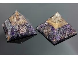 Pirámide orgonite 9x9cm de amatista