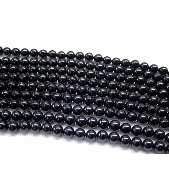 Hilo bola onix negro 8mm