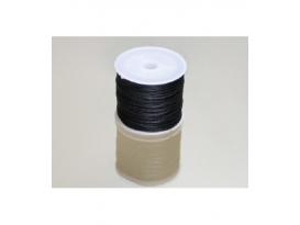 Cordón algodón encerado negro 1.2mm (92m