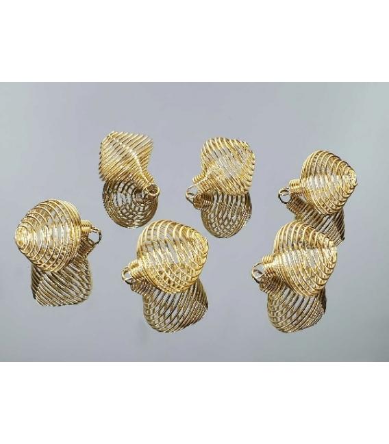 Jaulita redonda dorada (10ud)