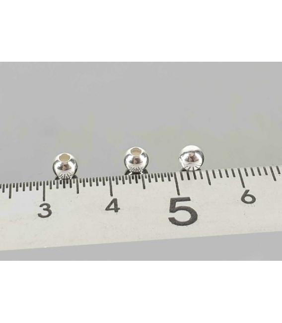 Fornitura plata bola 4mm (50ud)
