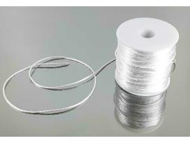 Rollo cordón cola de ratón seda blanco