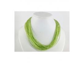Collar tallado olivino plata 3/4mm