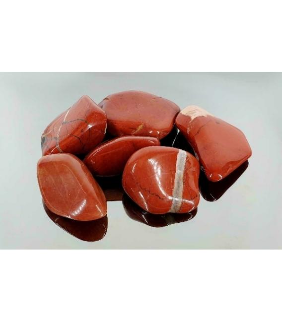 Rodado jaspe rojo de 40 a 55mm (250gr)
