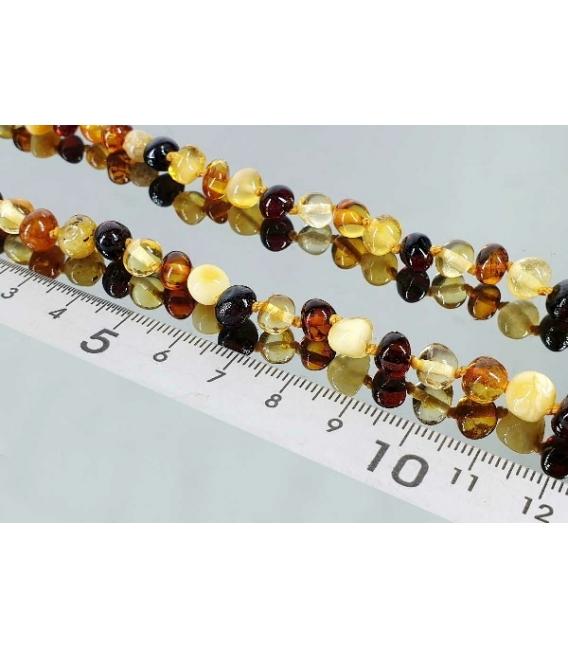 Collar bola irregular ambar multicolor
