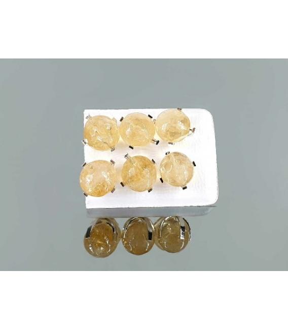 Pendiente garra citrino facetado (3par)
