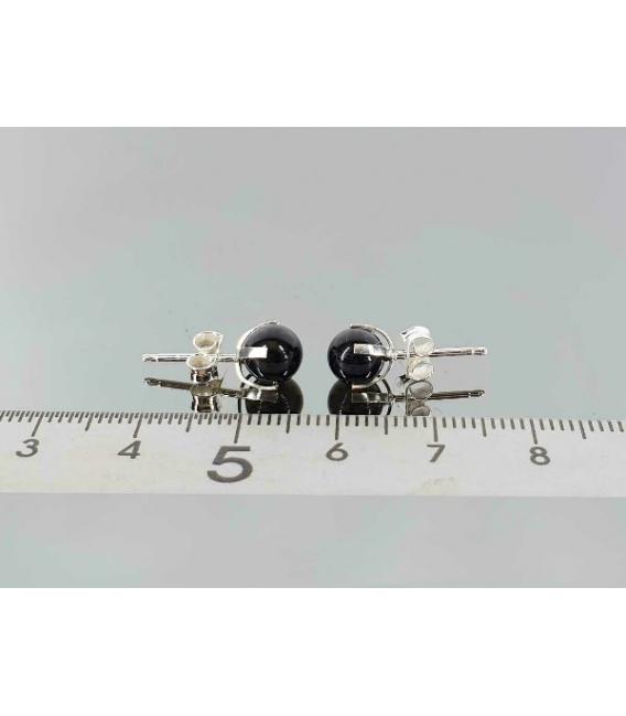 Pendiente garra turmalina negra 6mm (3par)