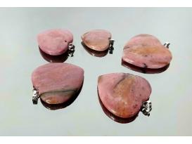 Colgante corazón rodonita (5ud)