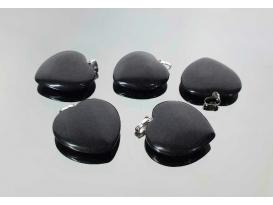 Colgante corazon obsidiana (5ud)