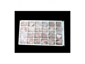 Caja masivo de cuarzo rosa (24ud)