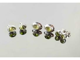 Pendiente olivino plata (1par)