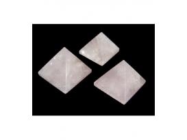Pirámides de cuarzo rosa (1kg)