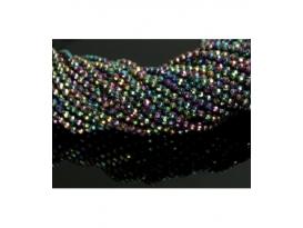 Hilo bola tallada hematite color arcoiris 4mm