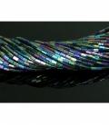 Hilo prisma hematite color arcoiris 6x4mm