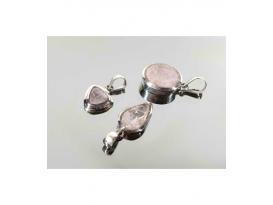 Colgante gema tallada morganita plata