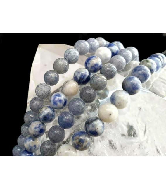 Hilo bola cuarzo azul 8mm oferta