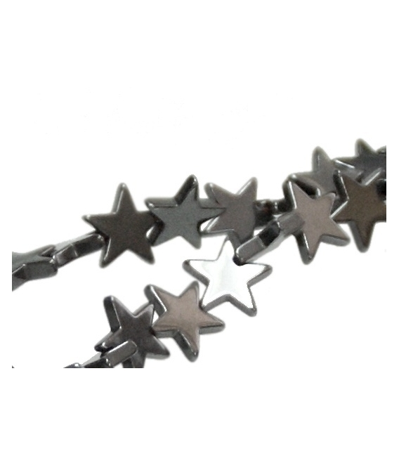 Hilo estrellas hematite 6mm