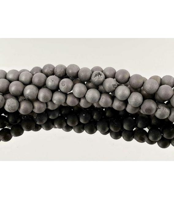 Hilo bola aqua aura negro 6mm