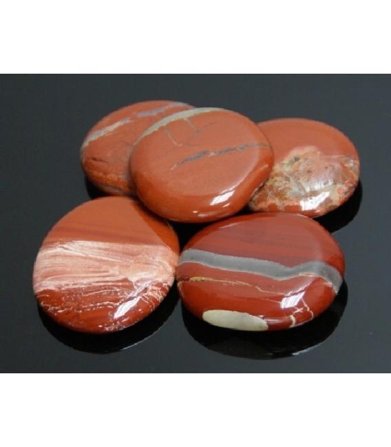 Rodado plano jaspe rojo (250gr)