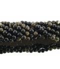Hilo bola obsidiana dorada 4mm